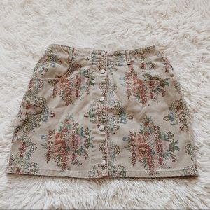 Guess Jeans • Floral Skirt • S